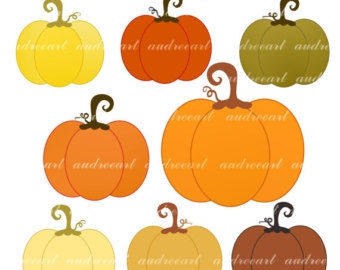 Country Pumpkin Clipart.