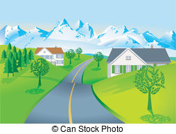 Country road Illustrations and Clip Art. 9,231 Country road.