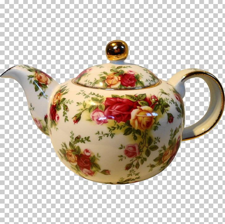 Teapot Porcelain Tableware Old Country Roses PNG, Clipart.