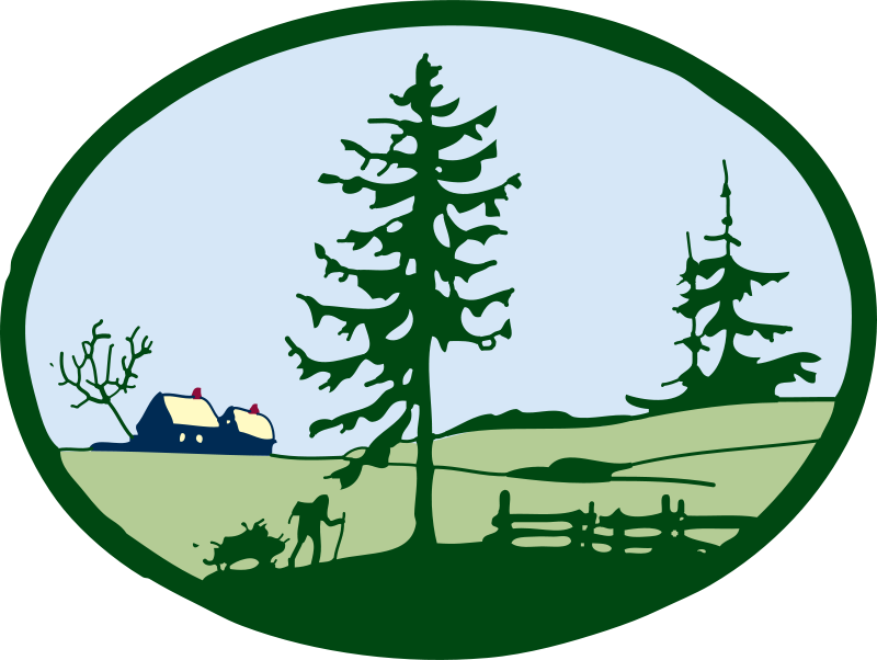 Free Clipart: Country scene.