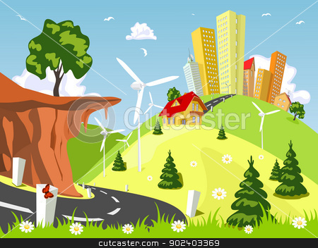 Countryside Road Clip Art.