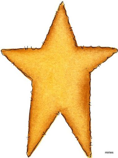 COUNTRY STAR CLIP ART.