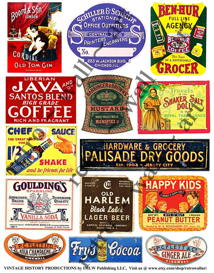 Rusty Metal Signs, Old Tin Signs, Grunge Supplies, Dry Goods Sign.