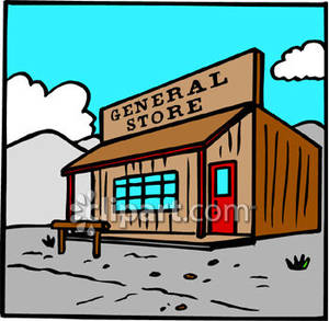 Old Country Store Clipart.