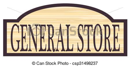 EPS Vector of Wooden Country Store Sign.