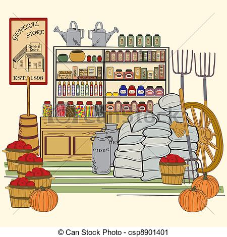 Country Store Clipart.