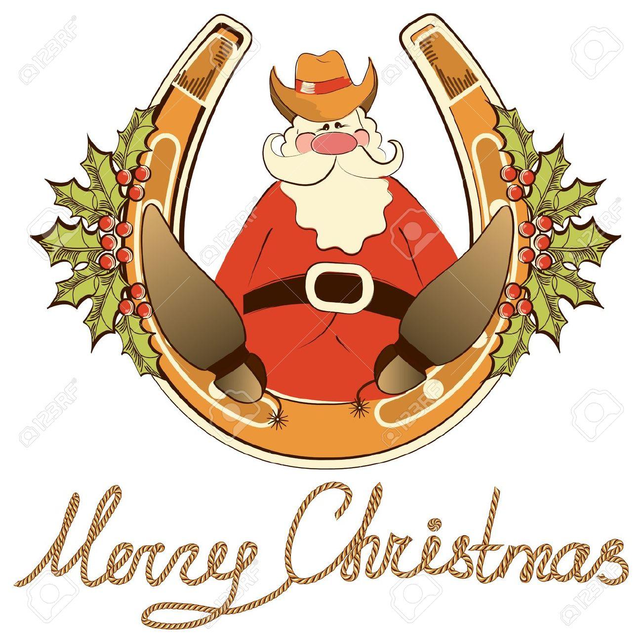 Cowboy Christmas Clipart Free.