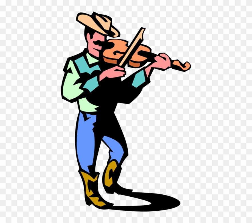 Vector Illustration Of Western Cowboy Country Music Clipart.
