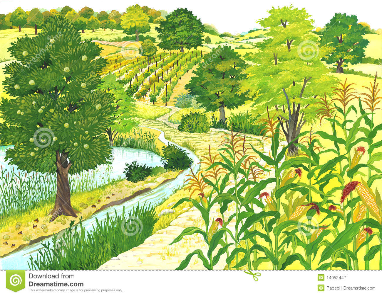 Countryside clipart free.