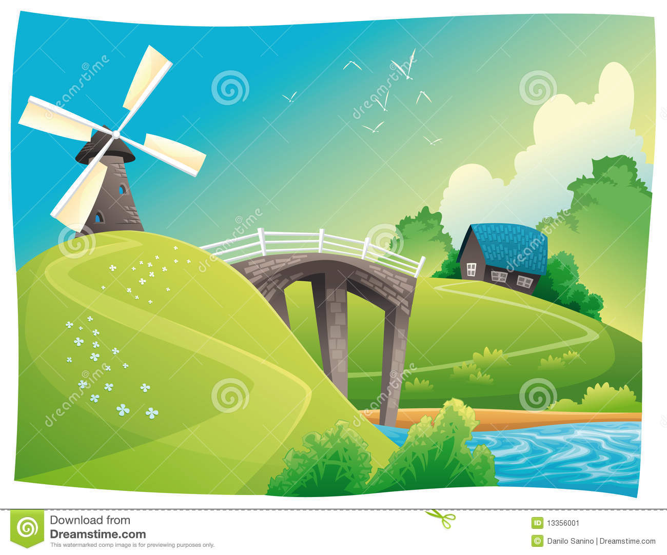 Countryside Stock Illustrations.