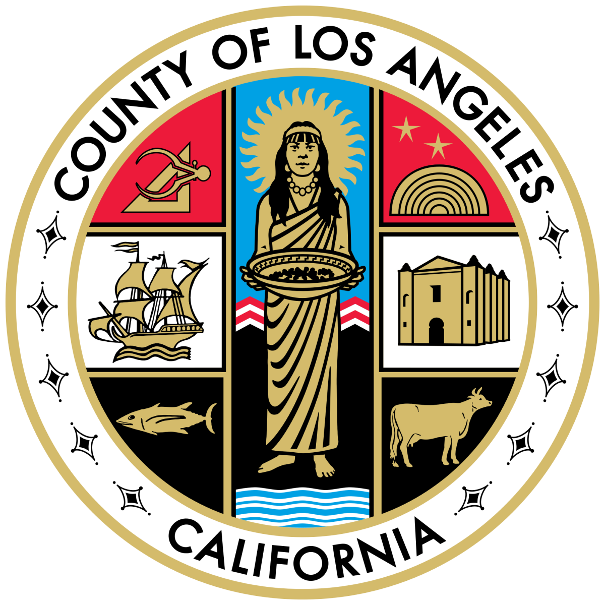 Seal of Los Angeles County, California.