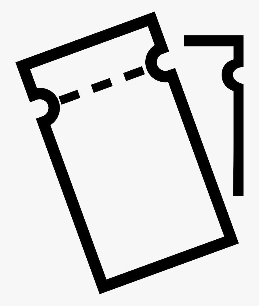 Transparent Coupon Outline Png.