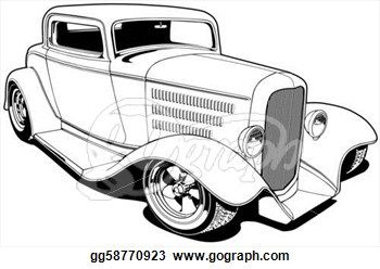 Deuce Coupe Drawing.