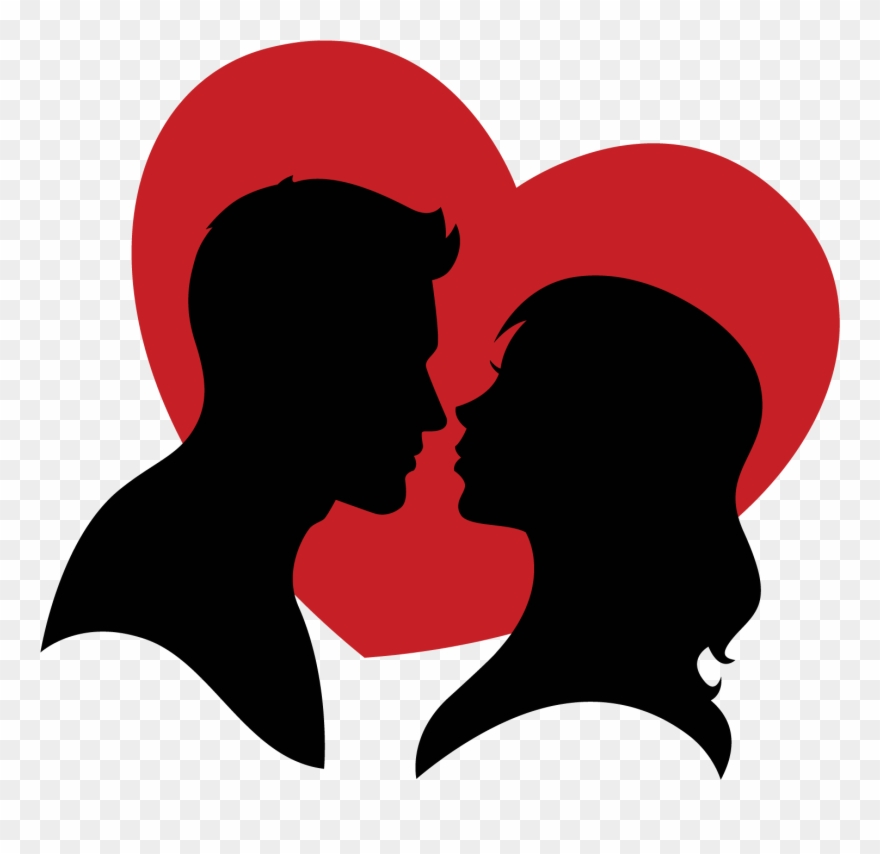 Picture Black And White Couple Vector Heart.