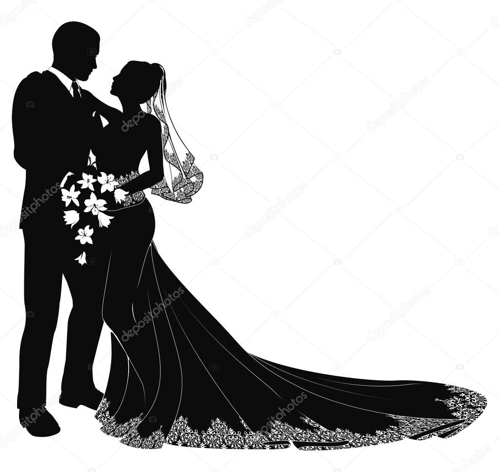 Wedding couple clipart png.