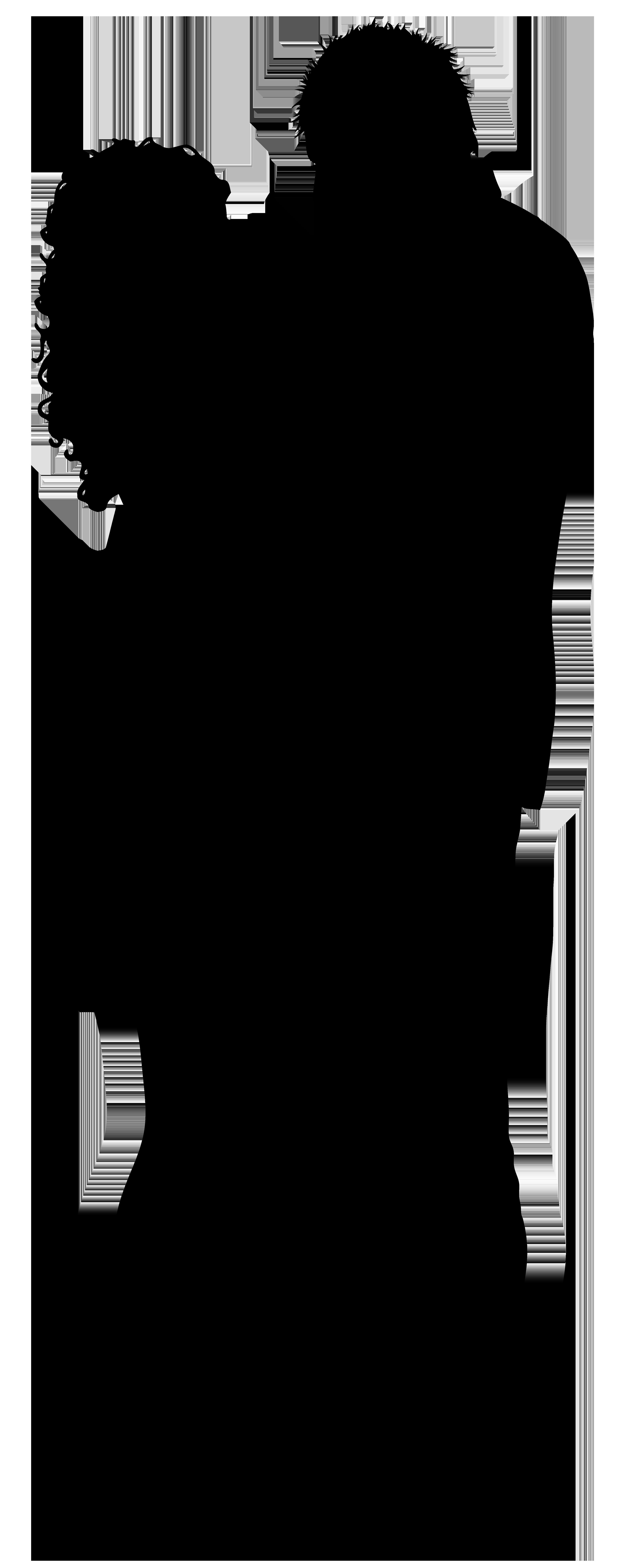 Couple Silhouette PNG Clip Art Image in couple clipart transparent.