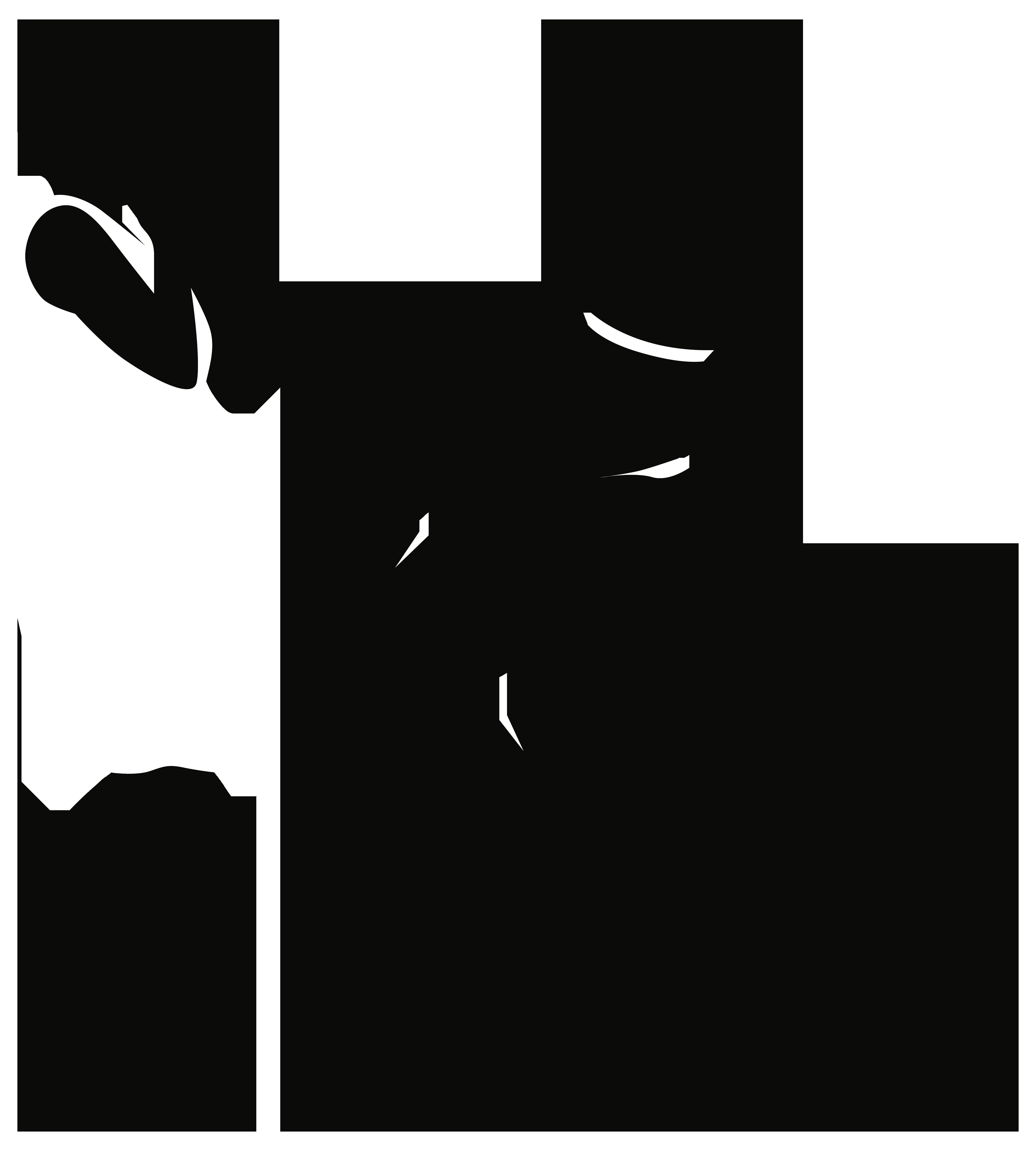 Romantic Couple Silhouettes PNG Clip Art.