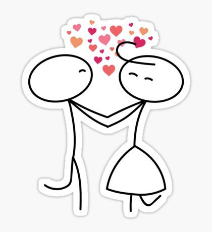 Stick figure Valentine\'s day Valentine People Love Wedding.