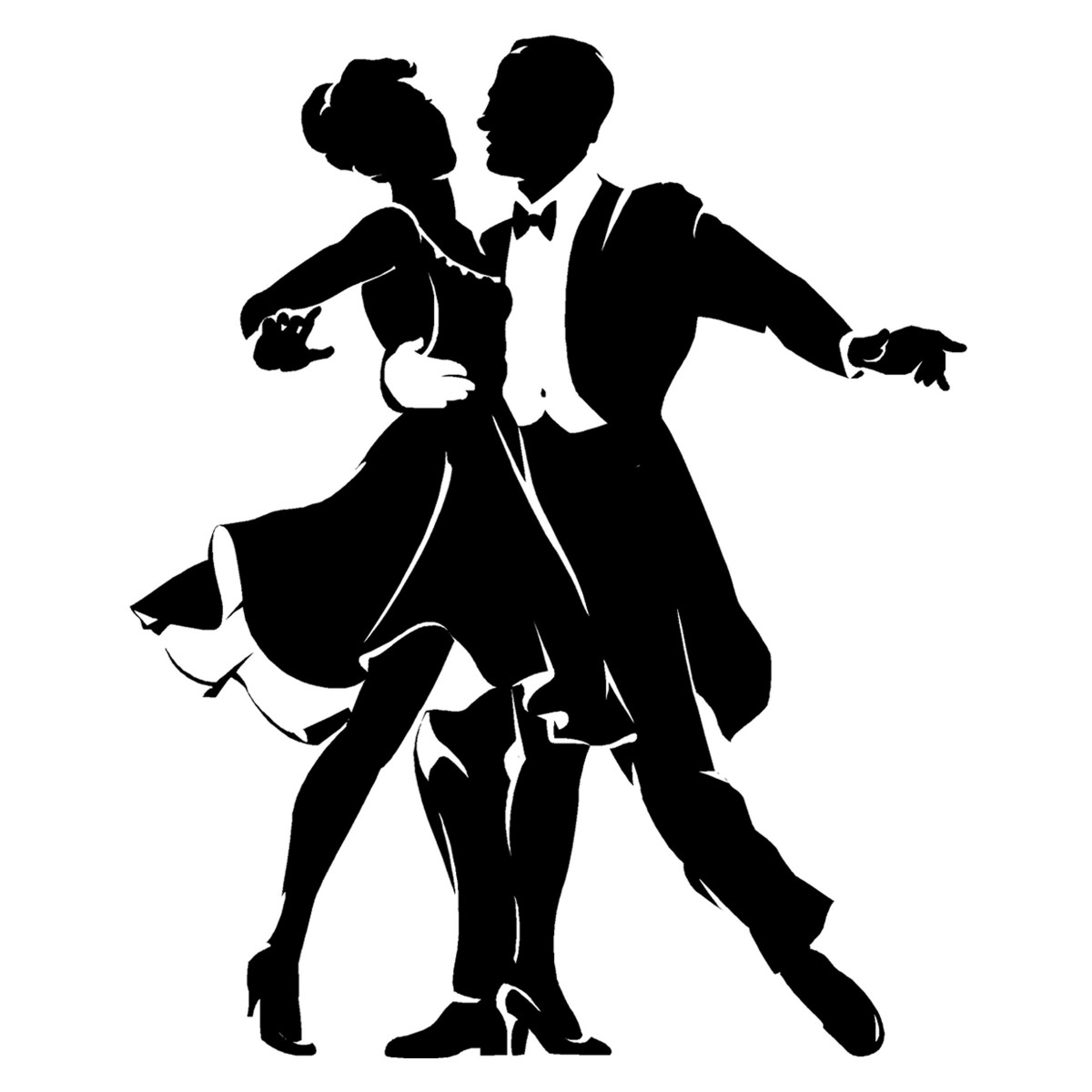 Dance Clip Art Black And White.