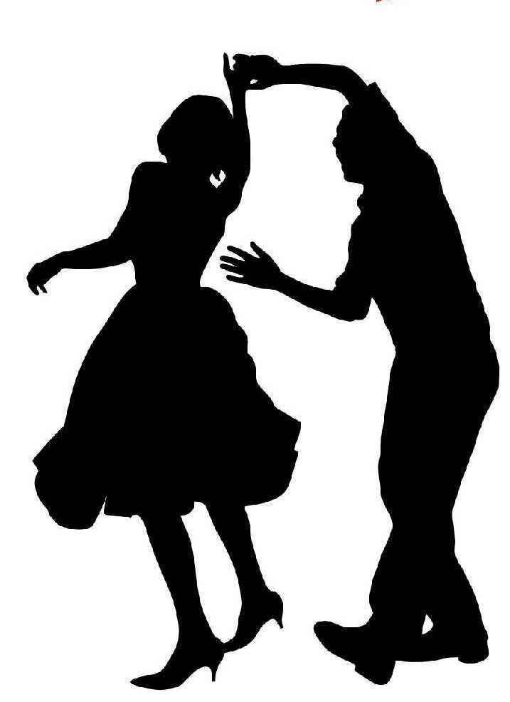 dance clipart black and white #18