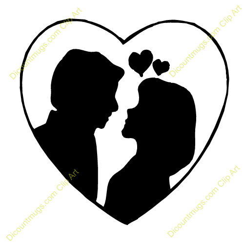 Free clipart for couple in love.