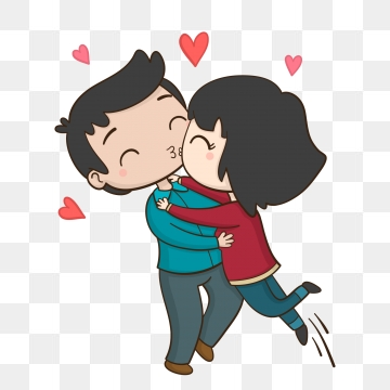 Couple Kiss PNG Images.