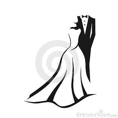 Wedding couple logo.