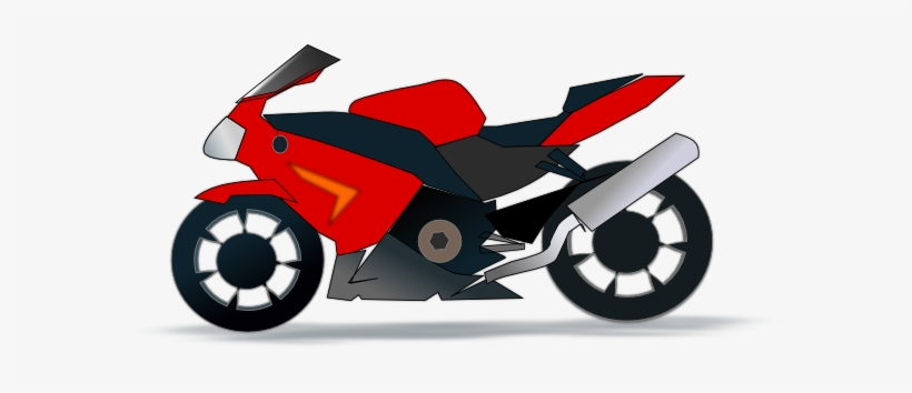 Motorcycle Clipart Red Motorbike Clip Art Free Transparent PNG.
