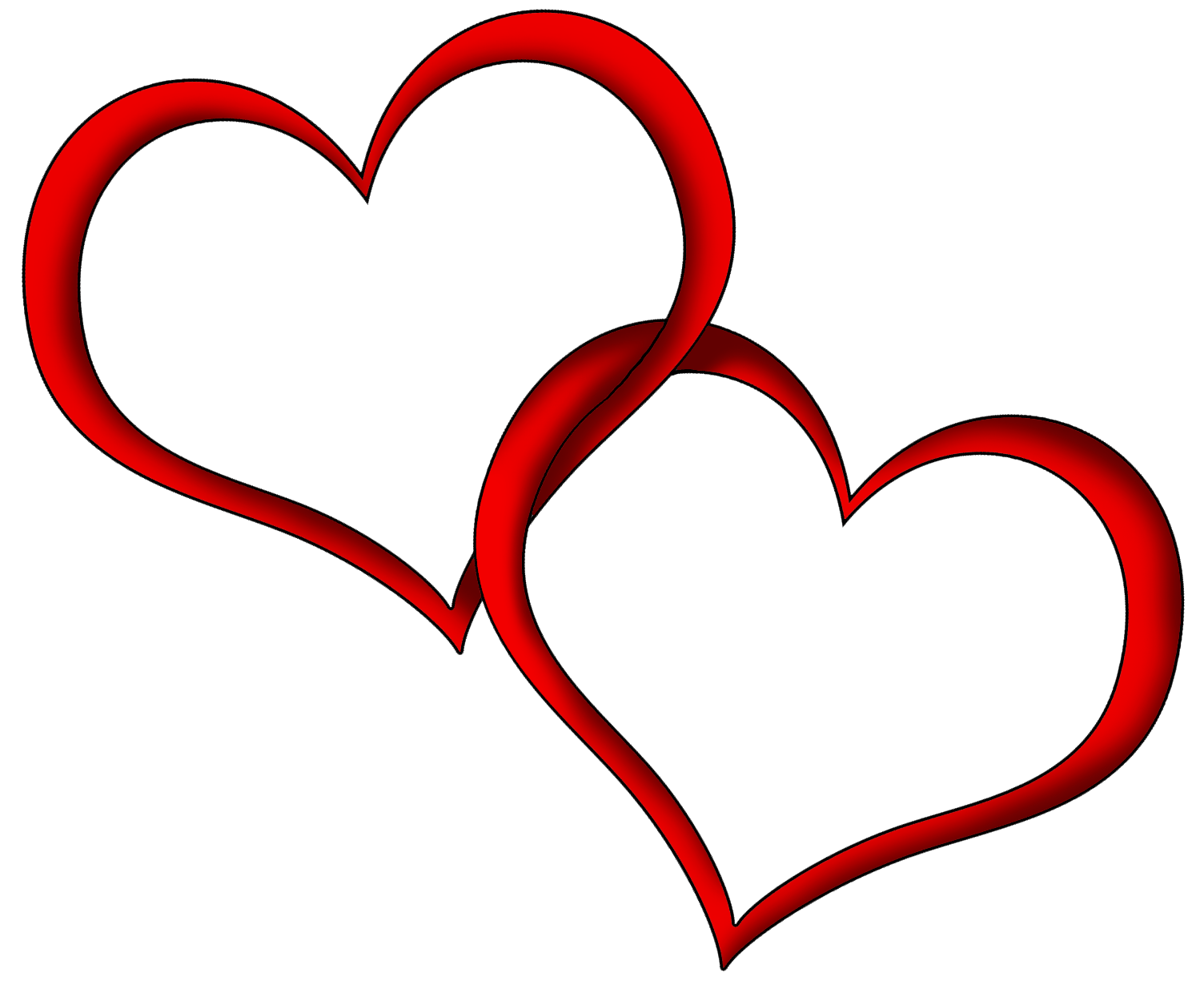 Heart Outline Couple Red transparent PNG.