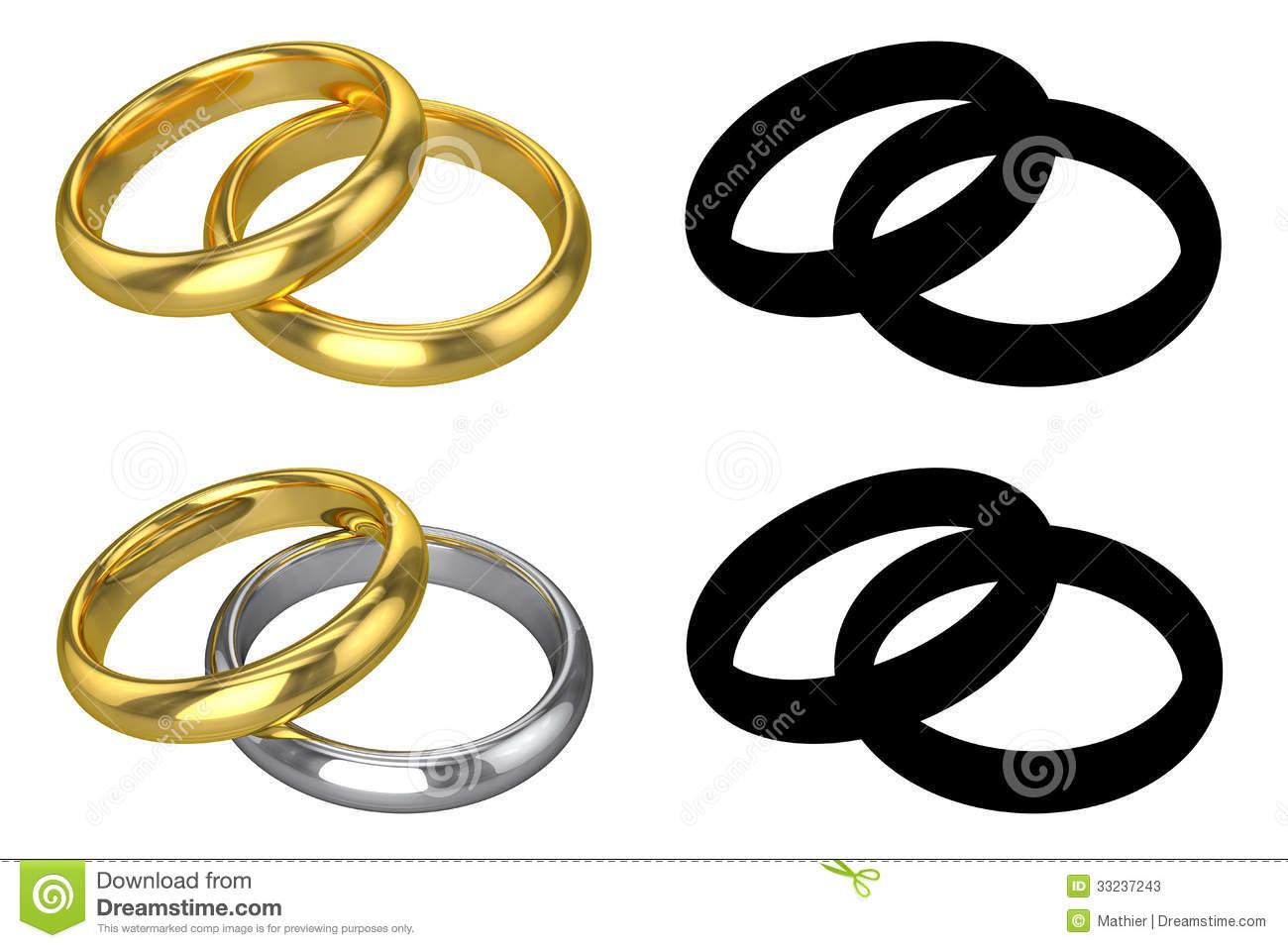 Double wedding ring clipart.