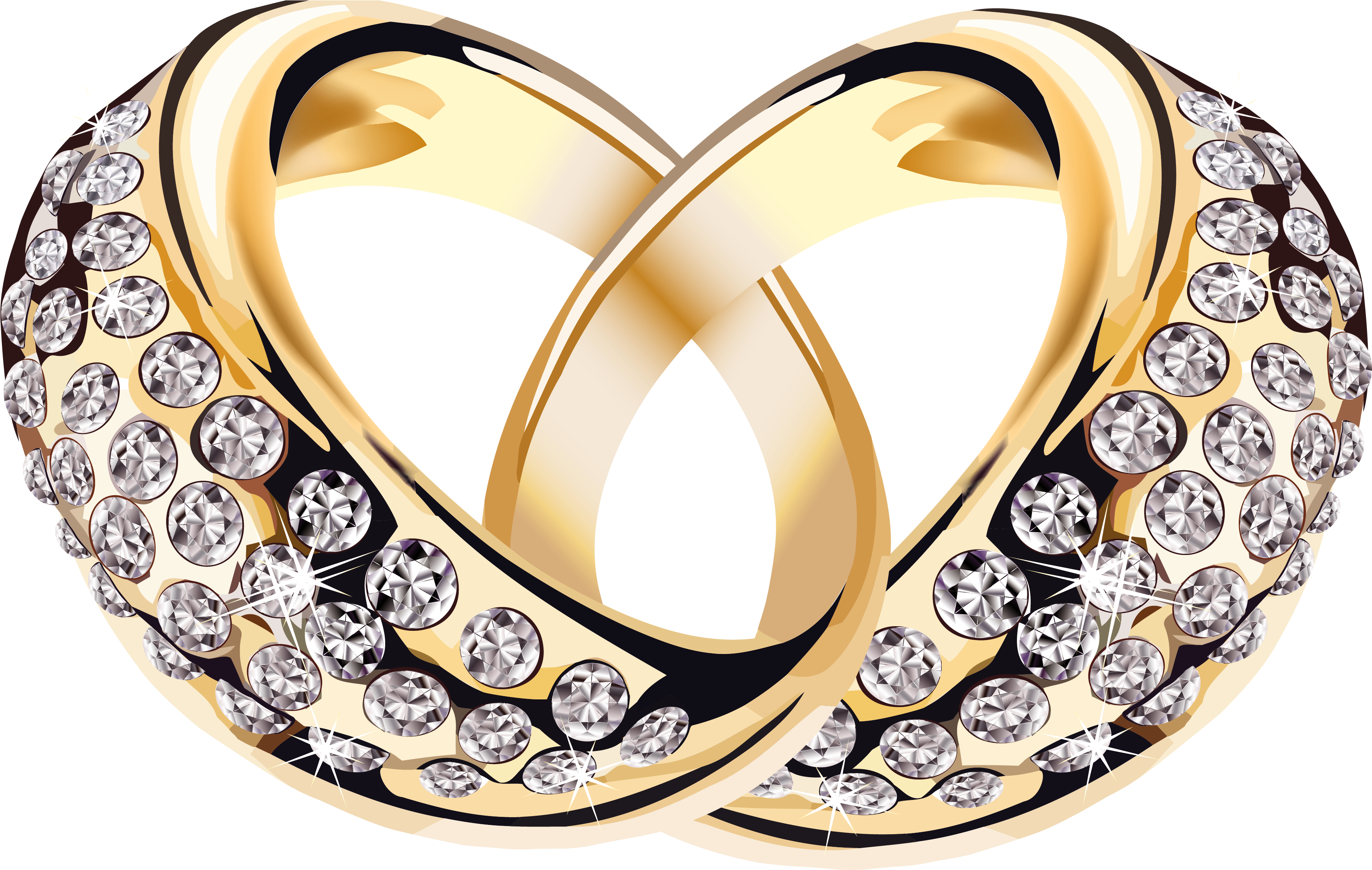 Couple Engagement Rings Png Clipart.