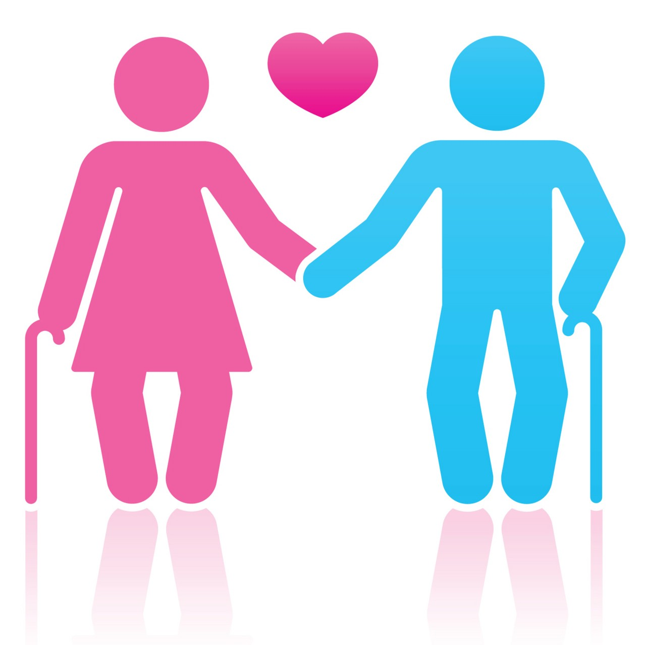 Couples in love clip art.