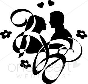 Couples Clipart, Art, Wedding Couple Clipart, Wedding Couple.