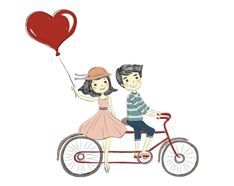 Cute couples clipart.