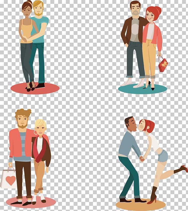 Cartoon couple, Romantic Couples PNG clipart.