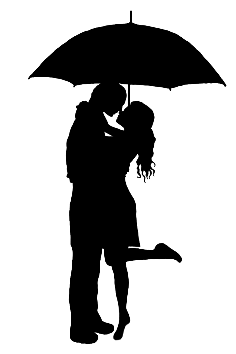 Rain Kissing Clipart.