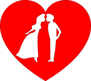 Heart With Couple Kissing Clip Art at Clker.com.