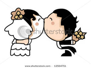 Couples Kissing Clipart.
