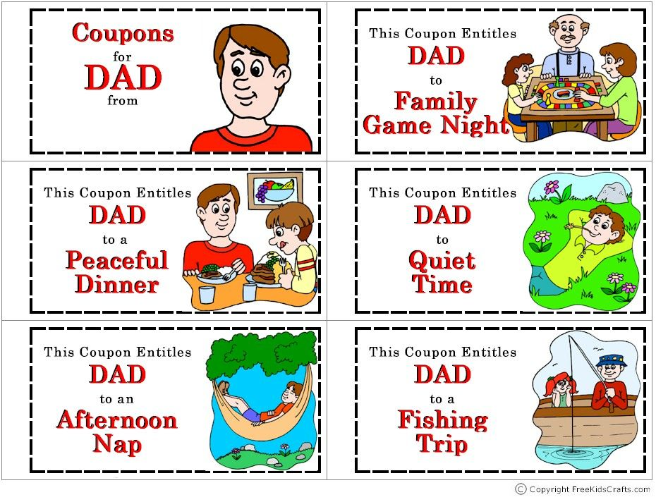 Coupon Book for Dad.