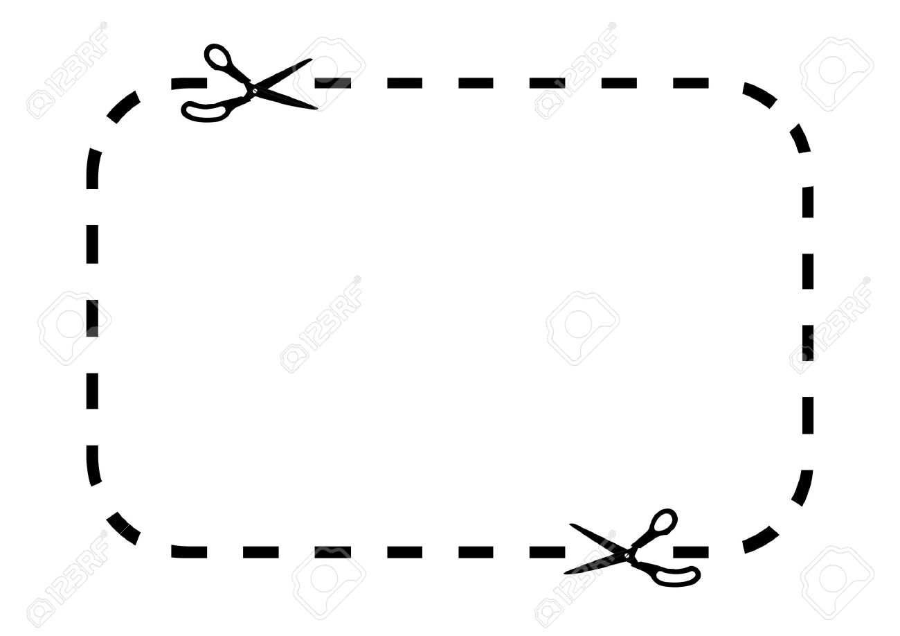 Coupon Border On White Stock Photo, Picture And Royalty Free Image.