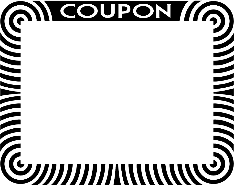 E Commerce Border Coupon Card Png And Vector.