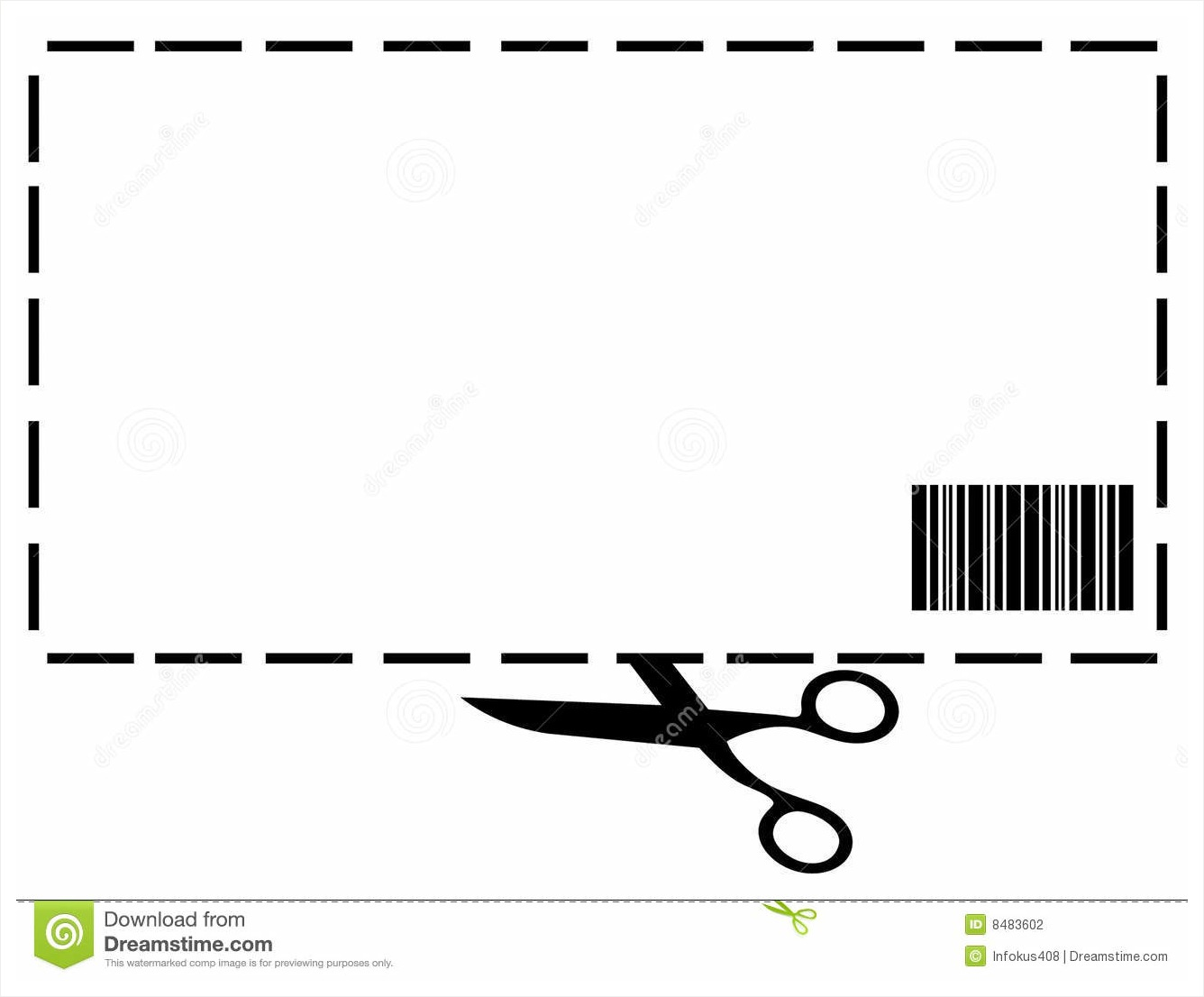 Clipart Coupon Template.