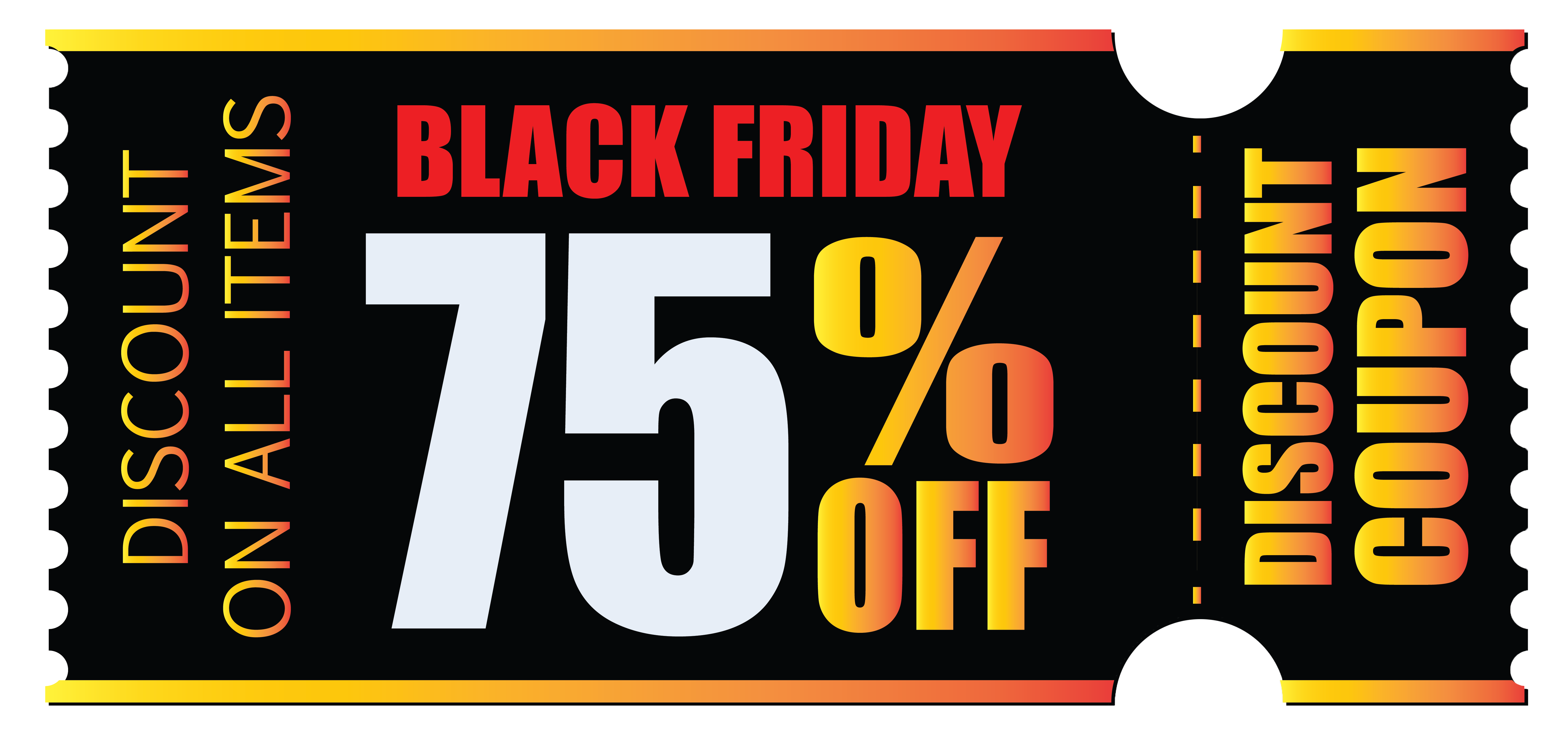 Black Friday Coupon PNG Clipart Picture.