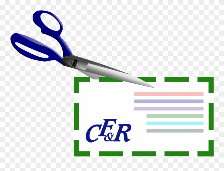 Scissors Cutting Out A Coupon Clipart (#3610403).
