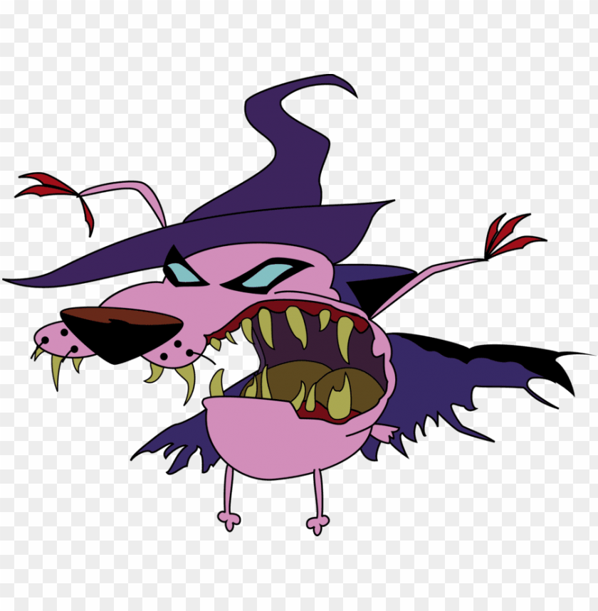 courage the cowardly dog PNG image with transparent background.