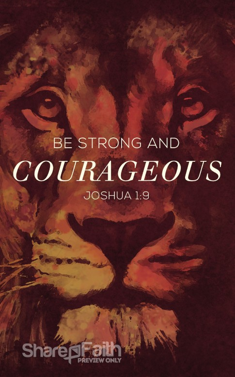Be Strong and Courageous Ministry Bulletin.
