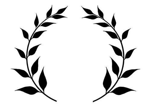 laurel leaf crown.
