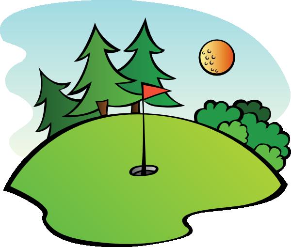 Clip Art Golf Course Clipart.