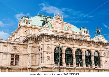 Oper Vienna Stock Images, Royalty.