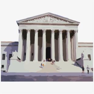 United States Supreme Court Building , Transparent Cartoon.